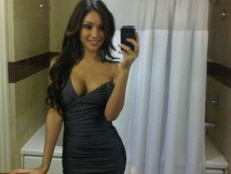 dress clothes black dress melanie iglesias celebrity style steal