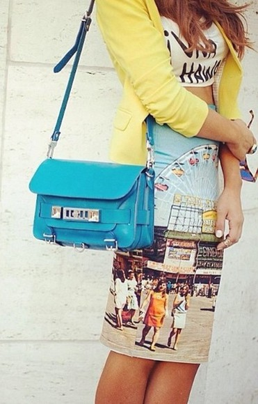 bag satchel blue bags