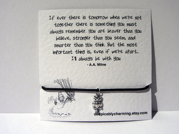 Winnie the pooh leather cord friendship wish by despicablycharming