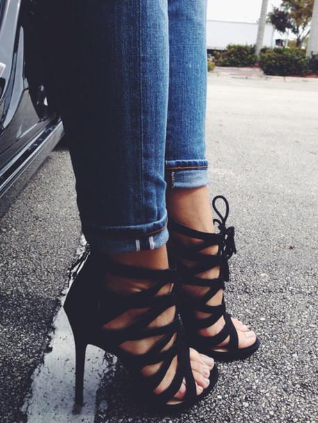 shoes black heels high heels black heels heels clubwear black high heals cute style black high heels
