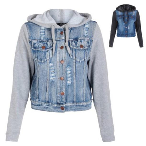 jacket hoodie jacket hoodie denim jacket