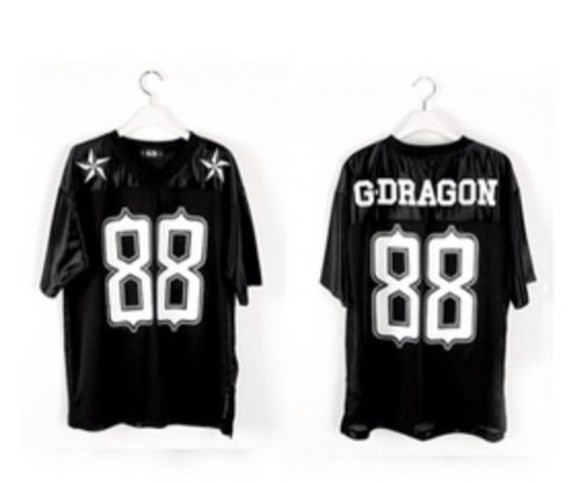 black stars swag trendy t-shirt 88 tshirt kpop gdragon gd bigbang fashion korean fashion rapper
