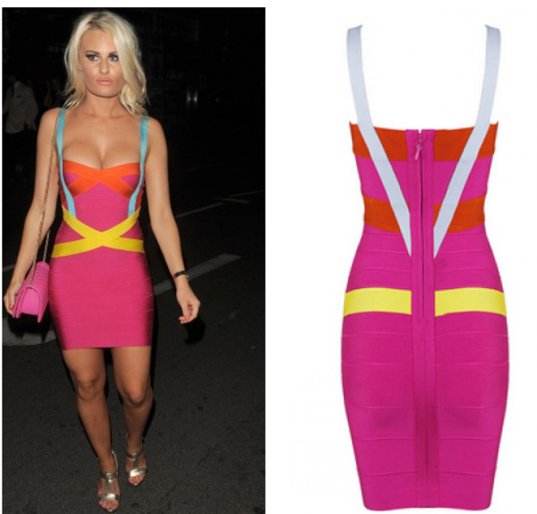 bandage dress bandage dress celebrity style celebrity style danielle armstrong towie dress party dress