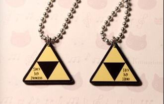 jewels zelda legend of zelda couples necklaces