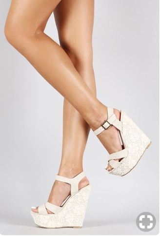 shoes gold white wedges wedding