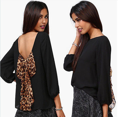 Cheetah Bow Chiffon Blouse · radtrash · Online Store Powered by Storenvy