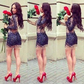 dress sequin dress sequin prom dress sequins high heels gold mini dress red high heels