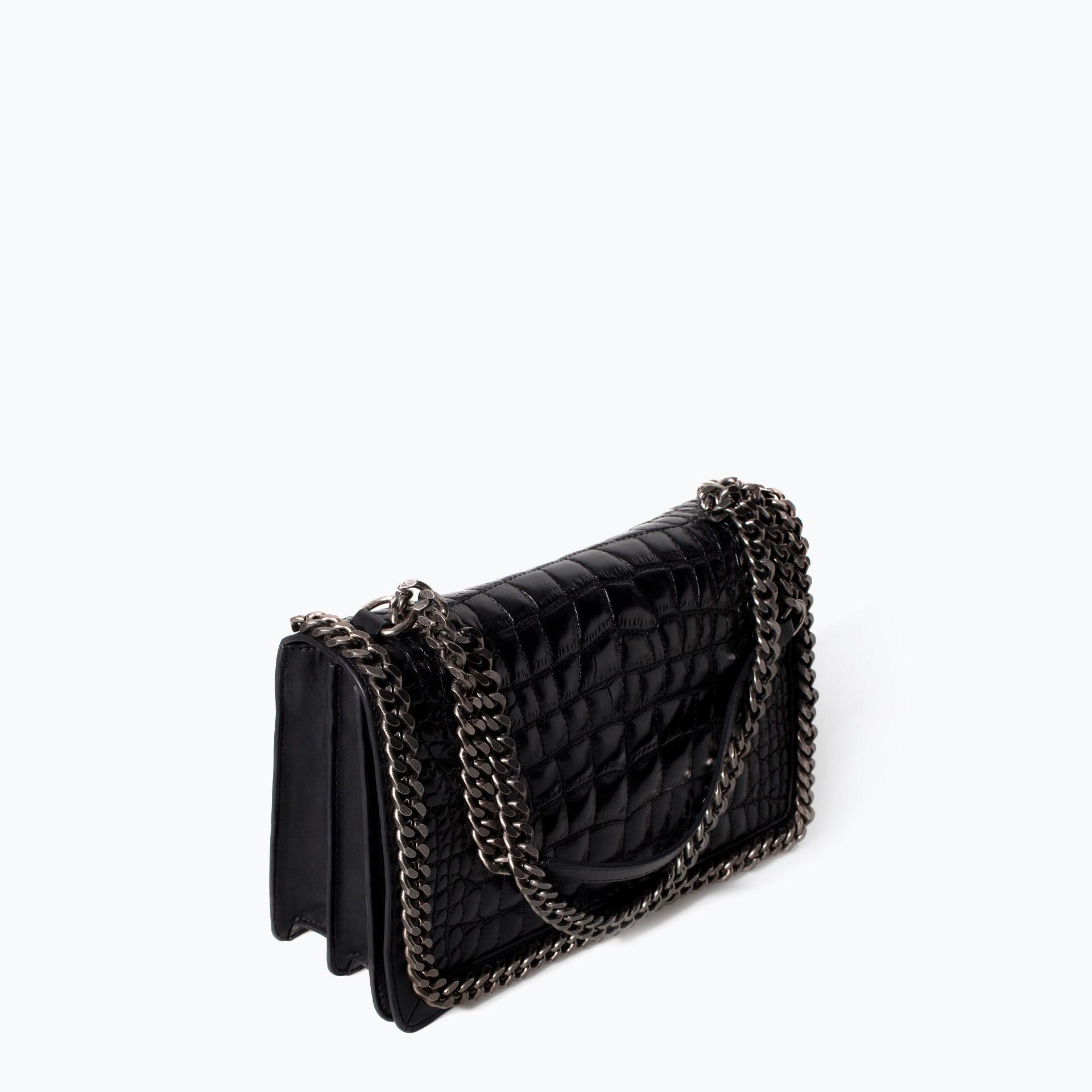 ae74e26cd5ae CROC AND CHAIN CITY BAG - Handbags - WOMAN | ZARA United States