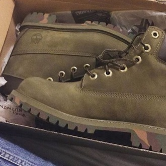 shoes green forest green timberlands timberland khaki camouflage