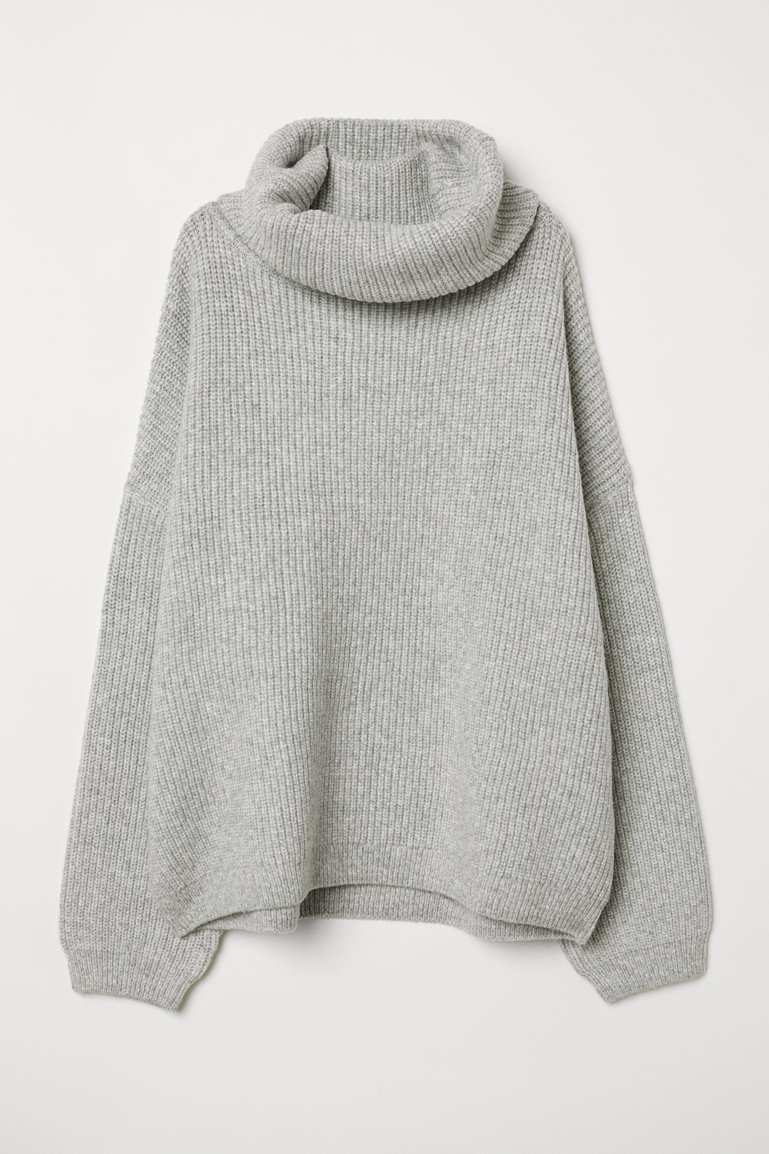 Ribbed Turtleneck Sweater - Pink melange - Ladies | H&M US