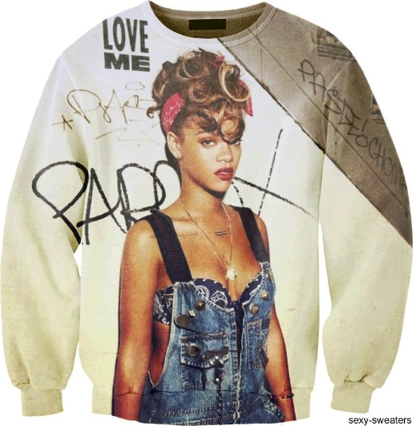 sweater rihanna custom 3d print paris
