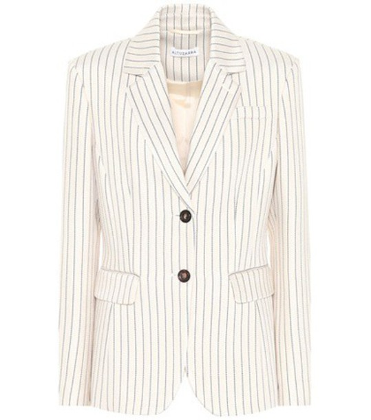 Altuzarra jacket striped jacket beige