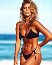 swimwear,bikini,black bikini,swimwear two piece,black swimwear,melissa odabash bikini