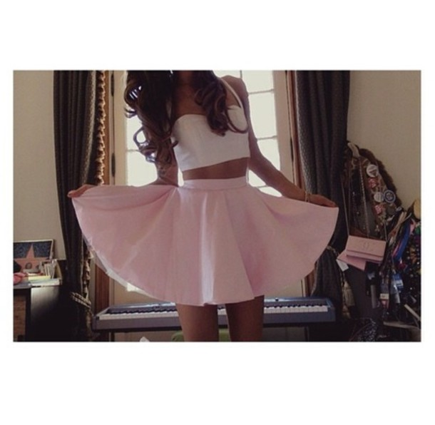 shirt skirt ariana grande