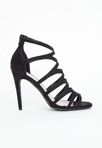 Alanah Laser Cut Sandals In Black - Footwear - Sandals - Missguided