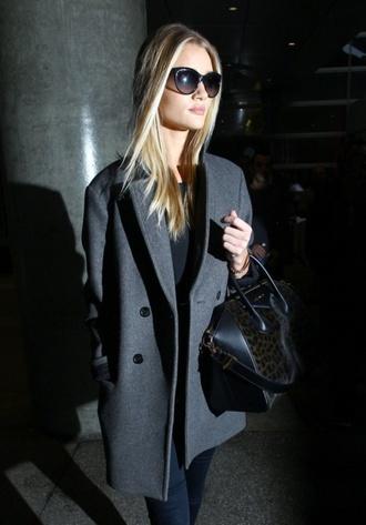 grey coat rosie huntington-whiteley
