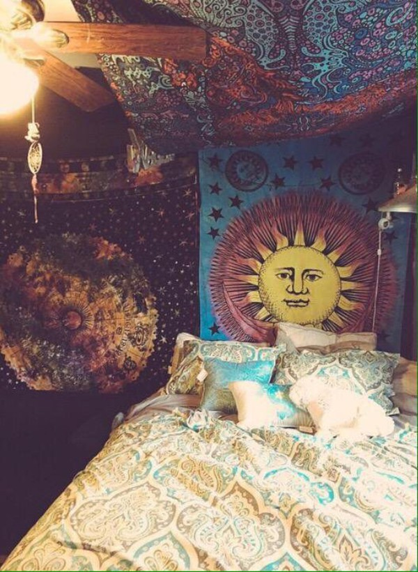 Home accessory hippie blanket wheretoget for Chill bedroom ideas