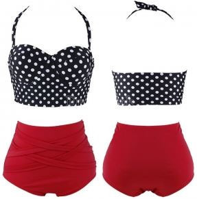 Cindy Retro High-Waisted Bikini