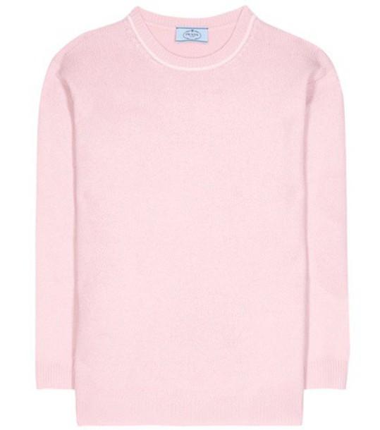 Prada sweater wool pink