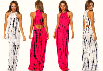 trendy shopaholicfashionistas long maxi dress tie dye shopaholic cut-out dress mock neck