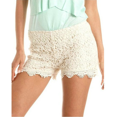 2013 Hot Sale Fashion Vintage Summer Gorgeous Womens Sexy Crochet Lace Shorts Hot Pants Elastic Waist-in Shorts from Apparel & Accessories on Aliexpress.com
