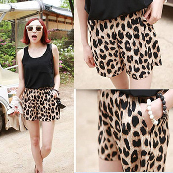2013 Womens Trendy Leopard grain Leisure Shorts Bandwidth Casual Stretchy Pants  on Aliexpress.com