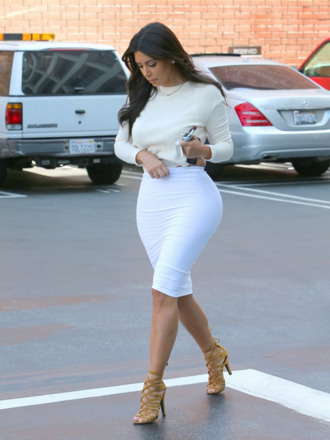 skirt kim kardashian shoes blouse