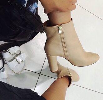 shoes heels tan heels zip classy tan