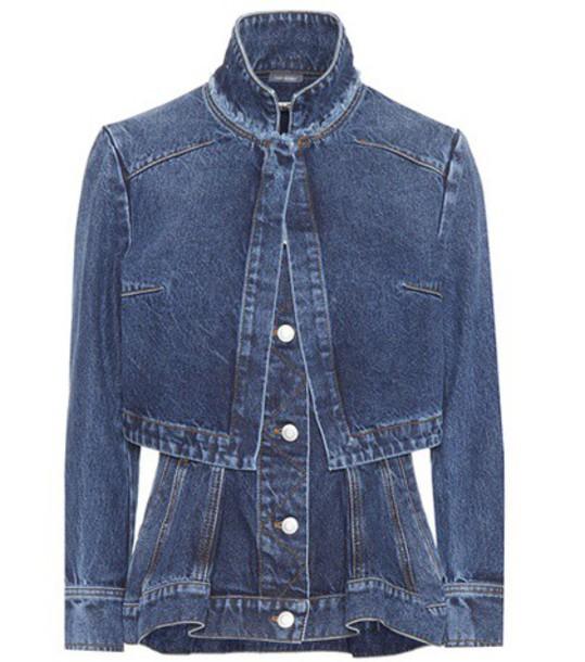 Alexander McQueen Denim jacket in blue