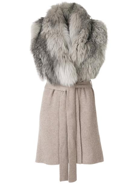 Liska coat sleeveless fur fox women nude