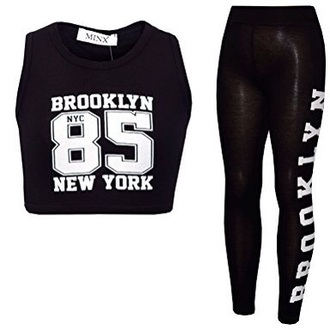 jumpsuit brooklyn   crop top and tights