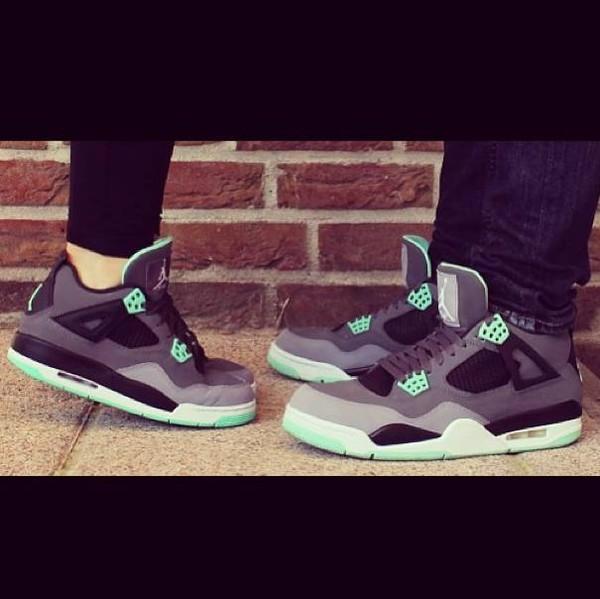 shoes nike air jordan vert pomme