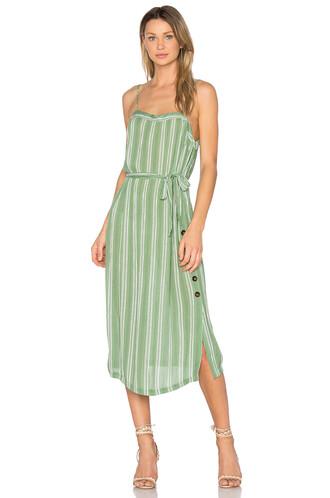 dress midi dress midi green