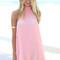 Coral neon high-neck dress – dream closet couture