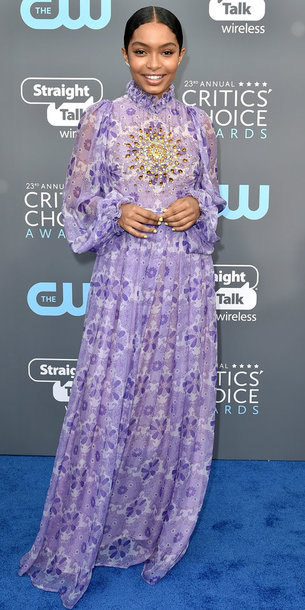 dress lilac maxi dress yara shahidi long sleeve dress