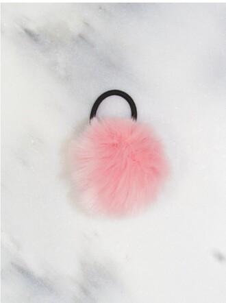 hair accessory pom pom fuzz ball