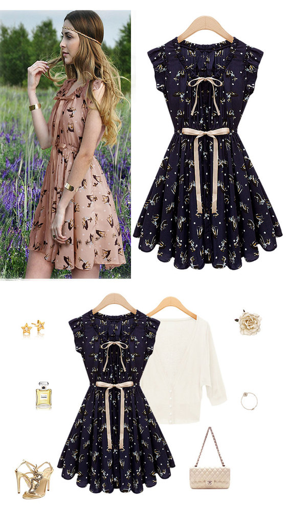 Aliexpress.com : buy 2013 spring summer new elk pattern waist europe the united states women's dresses wholesale 468 from reliable novelty dress suppliers on panda clothing co., ltd.