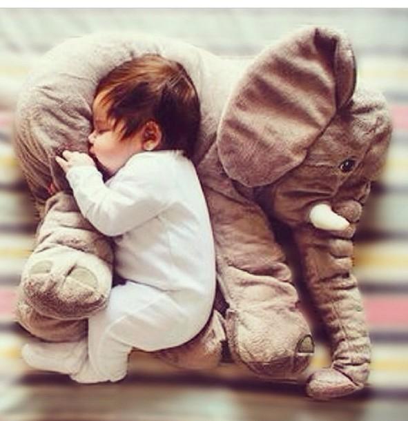 bag pillow cuddle baby home decor elephant kids