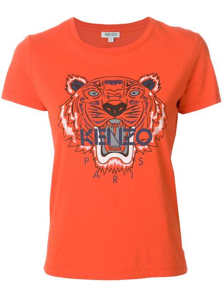 t-shirt shirt t-shirt women tiger cotton yellow orange top