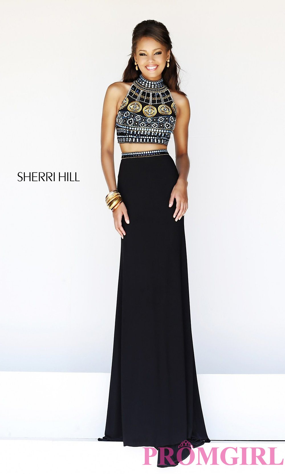 93ae9e438e Beaded Two-Piece Prom Dress by Sherri Hill 11068