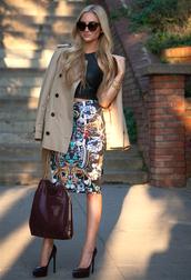 angel food,t-shirt,skirt,coat,shoes,bag,sunglasses,jewels,patent leather bag