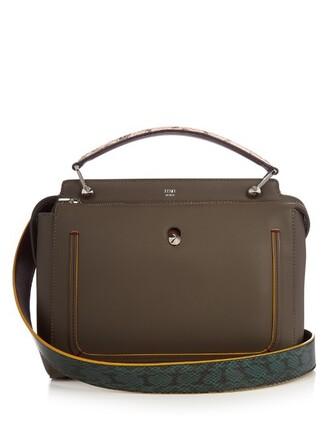 bag leather grey