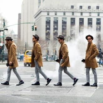 the metro man blogger hat gloves sunglasses mens pants mens coat winter coat winter outfits jacket pants sweater socks shoes