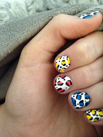 nail polish girly leopard print