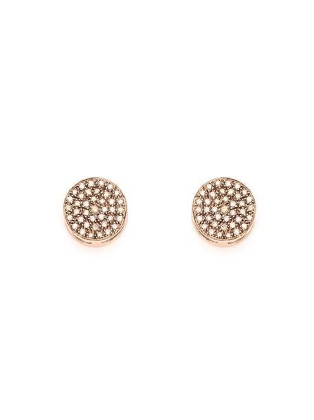 earrings yellow orange jewels