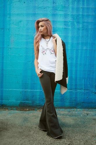 the blvck sheep blogger tank top jacket pants