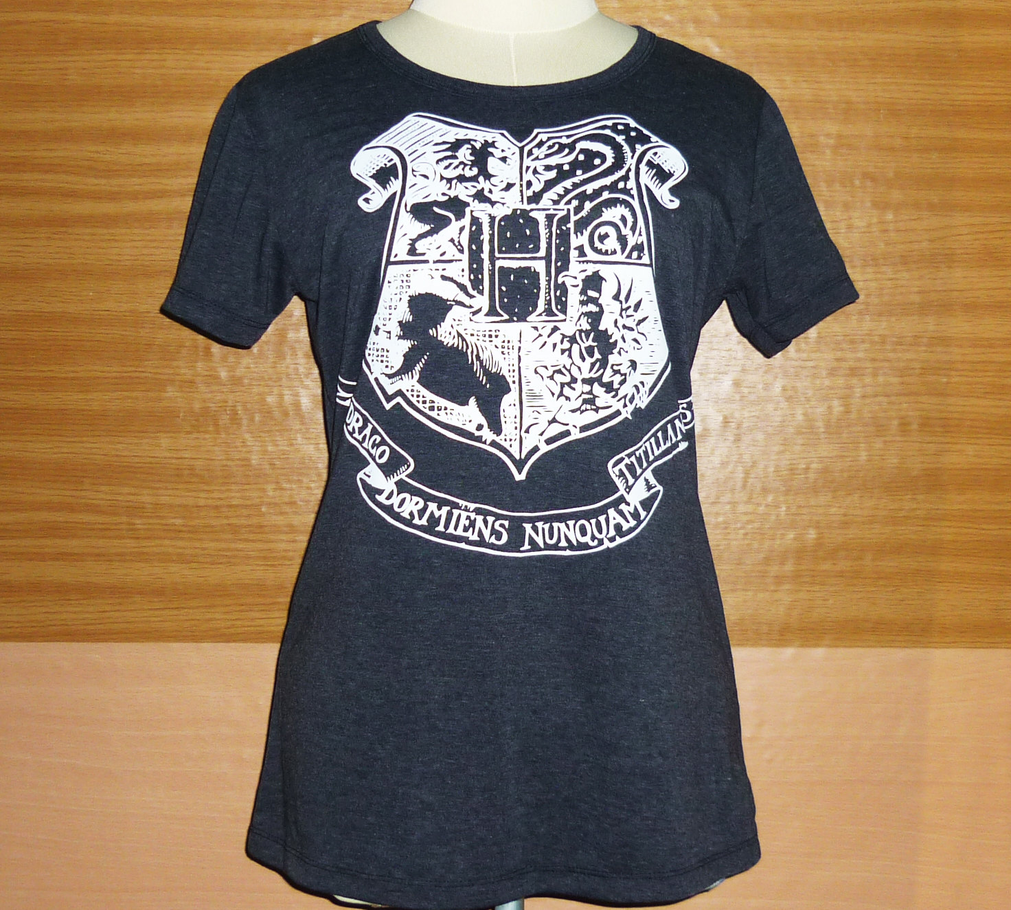 Lady shirt hogwarts alumni school wizard harry potter tshirt screen print dark gray fancy hogwarts clothing tee teen girl t shirts s m l xl