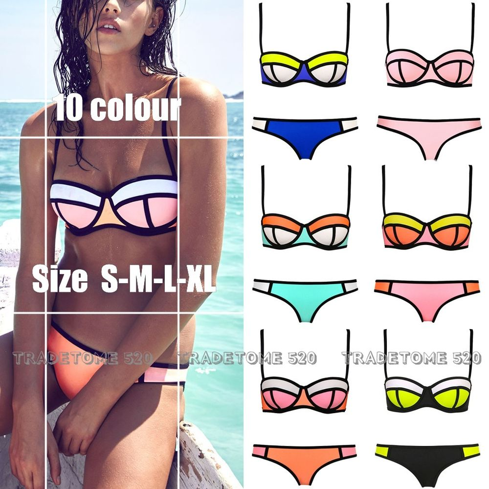 All kinds of lady sexy triangle bikini with rims polyester bra swimsuit swimwear