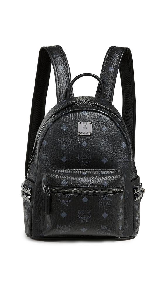 MCM Mini Stark Backpack in black