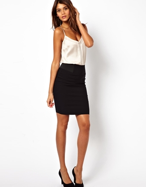 ASOS | ASOS High Waisted Pencil Skirt with Elastic Sides at ASOS